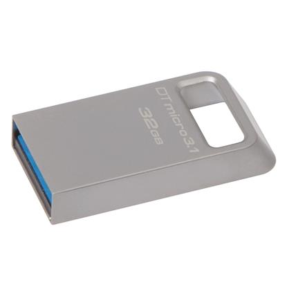 Kingston DataTraveler Micro 32GB USB 3.1 Flash Drive (Silver) (DTMC3/32GB) (KINDTMC3/32GB)