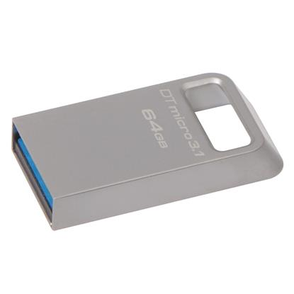 Kingston DataTraveler Micro 64GB USB 3.1 Flash Drive (Silver) (DTMC3/64GB) (KINDTMC3/64GB0)