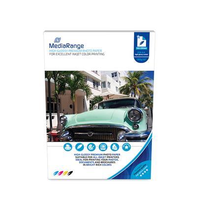 Φωτογραφικό Χαρτί MediaRange για Inkjet Εκτυπωτές Α4 High-Glossy 180g/m² 100 Φύλλα (MRINK117)