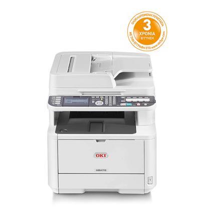 OKI Monochrome Laser Multifunction Printer MB472DNW (OKIMB472DNW) (45762102)