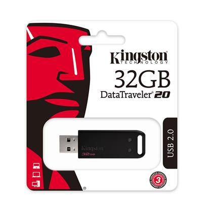Kingston DT20 Flash USB 2.0 32GB  (DT20/32GB) (KINDT20/32GB)