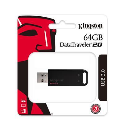 Kingston DT20 Flash USB 2.0 64GB  (DT20/64GB) (KINDT20/64GB)