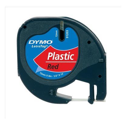 Πλαστική Ταινία Ετικετογράφου DYMO 91203 12χ4 mm. (Κόκκινη) (S0721630) (DYMO91203)