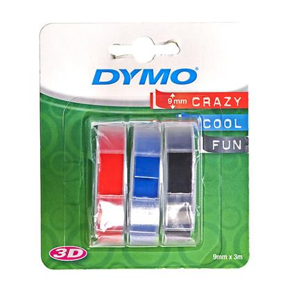Ταινία Ετικετογράφου DYMO S0847750 Embossing Pack (3 Tapes) - 9mm (Blue/Black/Red) (S0847750) (DYMOS0847750)