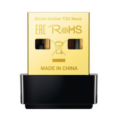 TP-LINK WiFi USB Adapter Archer T2U Nano AC600 (T2UNANO) (TPT2UNANO)