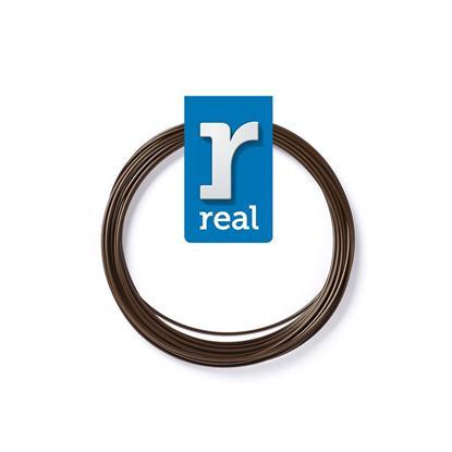 REAL PLA 3D pen filament Brown ( 10 m / 1.75 mm ) (3DPFPLABROWN10MM175) (REF3DPFPLABROWN10MM175)