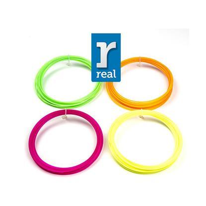 REAL PLA 3D pen filament -Fluorescent- package ( 4 pcs / 10 m / 1.75 mm ) (REF3DPFPLAFLUORPACKAGE10)