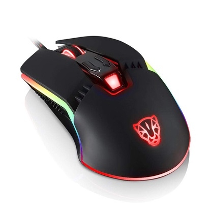 Motospeed V20 Wired gaming mouse PMW3360 black color