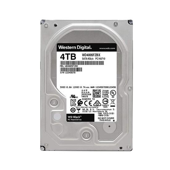 Western Digital Εσωτερικός Σκληρός Δίσκος 4TB (Black, 3.5'') (WD4005FZBX)