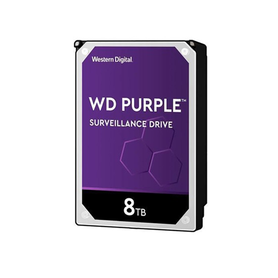 Western Digital Εσωτερικός Σκληρός Δίσκος 8TB (Purple, 3.5'') (WD82PURZ)