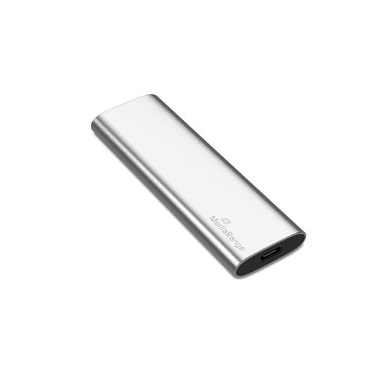 MediaRange Εξωτερικός Σκληρός Δίσκος SSD USB Type-C 480GB (Silver) (MR1102)