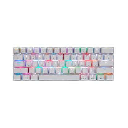Motospeed K62 White Bluetooth Mechanical Keyboard RGB Blue Switch GR Layout