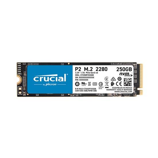 Crucial SSD P2 250GB 3D NAND NVME PCIe M.2  (CT250P2SSD8) (CRUCT250P2SSD8)