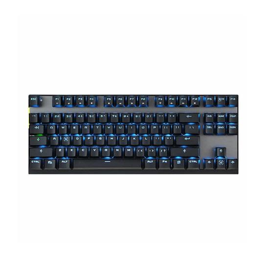 Motospeed GK82 Black Wireless Mechanical Keyboard Ice Blue Backlit Red Switch GR Layout