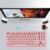 Motospeed GK82 Pink Wireless Mechanical Keyboard Blue Switch GR Layout