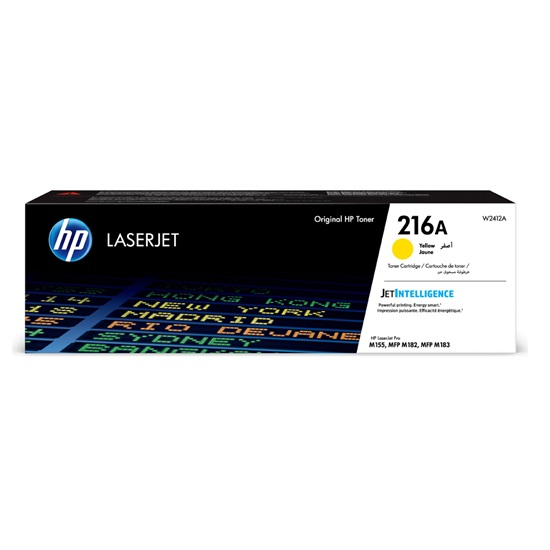 HP 216A Yellow LaserJet Toner Cartridge (850k) (W2412A) (HPW2412A)