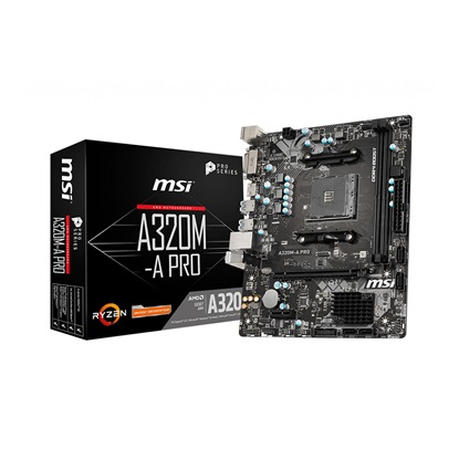 MSI A320M-A PRO Motherboard AM4 (7C51-001R) (MSI7C51-001R)