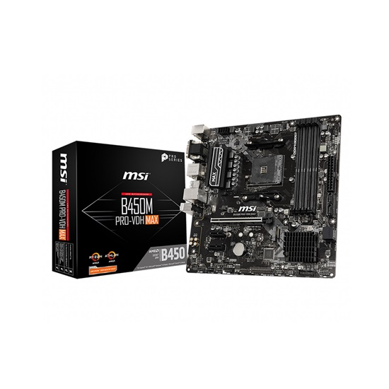 MSI B450M-A PRO MAX Motherboard (AM4) (7C52-002R) (7C52-001R)