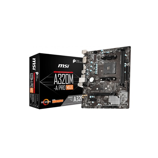 MSI A320M-A PRO MAX Motherboard (AM4) (7C52-001R) (7C52-004R)