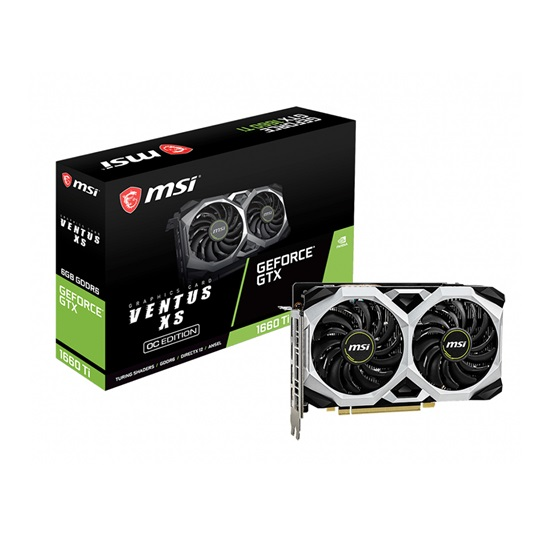 VGA MSI GeForce GTX 1660 Ti 6GB Ventus XS OC (V375-032R) (MSIV375-032R)
