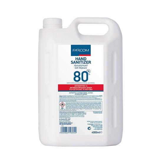 Αντισηπτικό Gel Καθαρισμού Χεριών Farcom 4000 ml