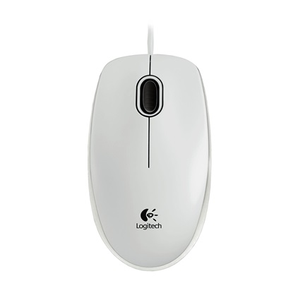 Logitech B100 Optical Mouse (White) (910-003360)