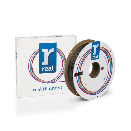 REAL RealFlex 3D Printer Filament - Black- spool of 0.5Kg - 1.75mm (REFFLEXBLACK500MM175)