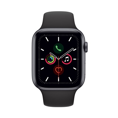 Watch Apple Series 5 GPS 44mm Grey Aluminum Case with Sport Band - Black EU (WVF2GK)