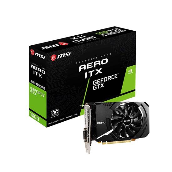 VGA MSI GeForce GTX 1650 4GB D6 Aero ITX OC (V809-3446R) (MSIV809-3446R)