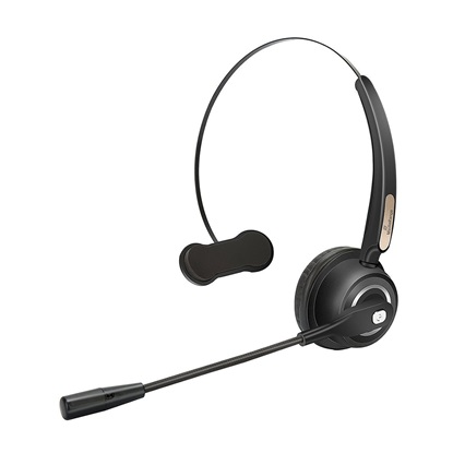 MediaRange Wireless mono headset with microphone, 180mAh battery, black (MROS305)