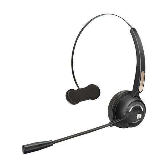 MediaRange Wireless mono headset with microphone, 180mAh battery, black (MROS305)