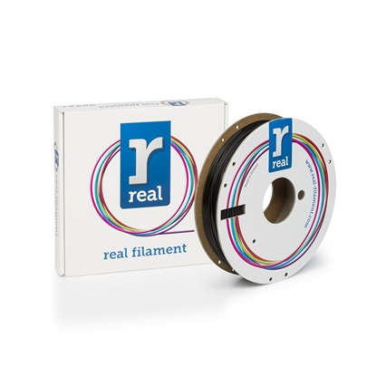 REAL PLA 3D Printer Filament - Black - spool of 0.5Kg - 1.75mm (REFPLABLACK500MM175)