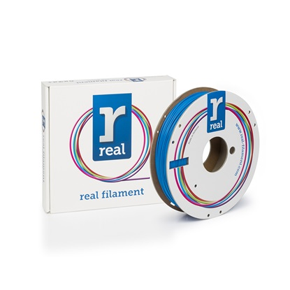 REAL PLA 3D Printer Filament - Blue - spool of 0.5Kg - 1.75mm (REFPLABLUE500MM175)