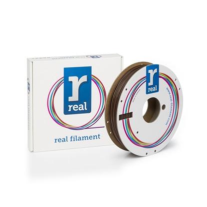 REAL PLA 3D Printer Filament - Brown - spool of 0.5Kg - 1.75mm (REFPLABROWN500MM175)