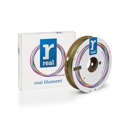 REAL PLA 3D Printer Filament - Gold - spool of 0.5Kg - 1.75mm (REFPLAGOLD500MM175)