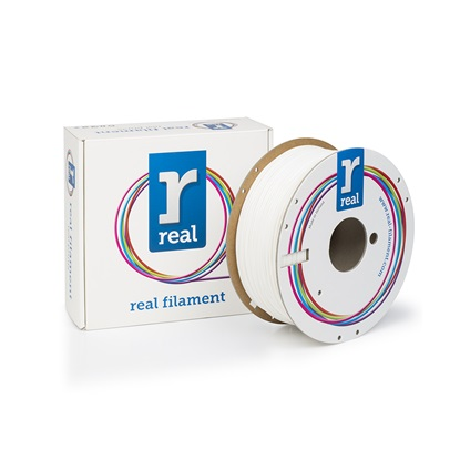 REAL PLA 3D Printer Filament - White - spool of 1Kg - 1.75mm (REFPLAWHITE1000MM175)
