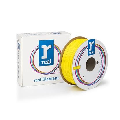 REAL PLA 3D Printer Filament - Yellow - spool of 1Kg - 1.75mm (REFPLAYELLOW1000MM175)