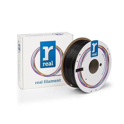 REAL PLA 3D Printer Filament - Black - spool of 1Kg - 1.75mm (REFPLABLACK1000MM175)