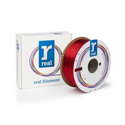 REAL PETG 3D Printer Filament - Red - Spool of 3Kg - 1.75mm (REFPETGRED3KG)