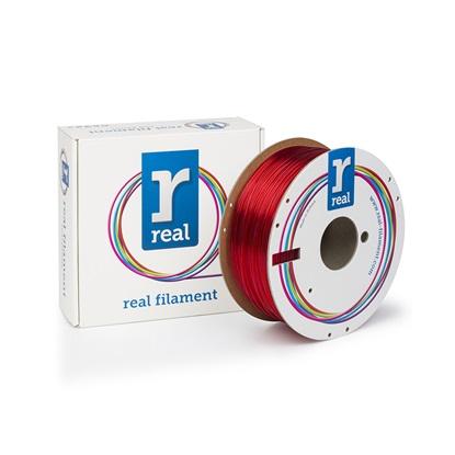 REAL PETG 3D Printer Filament - Translucent Red - spool of 1Kg - 1.75mm