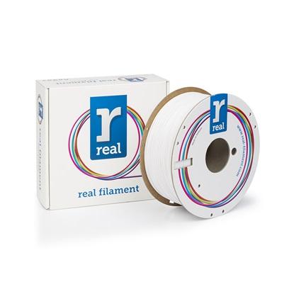 REAL PETG 3D Printer Filament - White – spool of 1Kg - 1.75mm (REFPETGSWHITE1000MM175)