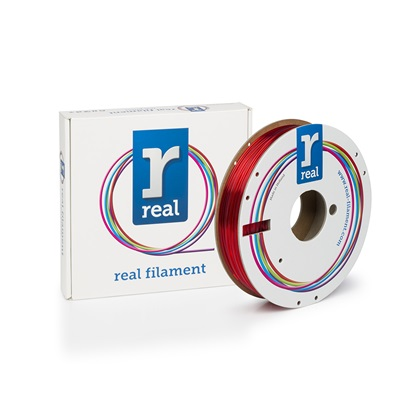 REAL PETG 3D Printer Filament - Translucent Red - spool of 0.5Kg - 1.75mm (REFPETGTRED500MM175)