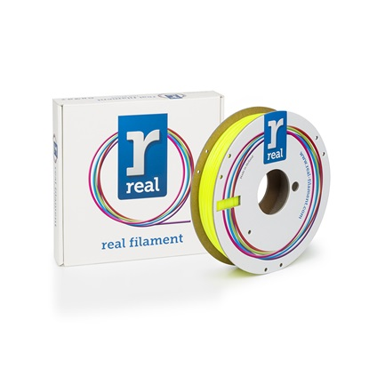 REAL PETG 3D Printer Filament - Translucent Yellow - spool of 0.5Kg - 1.75mm (REFPETGTYELLOW500MM175)