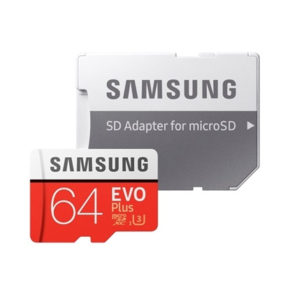 Samsung Micro Secure Digital Evo Plus U1 64GB Class 10 (edition 2020) (MB-MC64HA/EU) (SAMMB-MC64HA/EU)