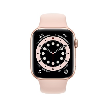 Watch Apple Series 6 GPS 44mm Gold Aluminum Case with Pink Sand Sport Band (M00E3TY/A)
