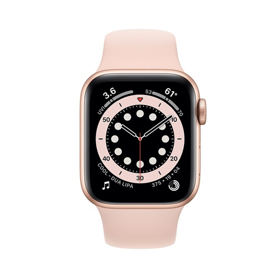 Watch Apple Series 6 GPS 40mm Gold Aluminum Case with Pink Sand Sport Band (MG123NF/A)