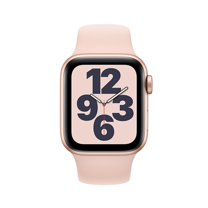 Watch Apple Series SE GPS 40mm Gold Aluminum Case with Pink Sand Sport Band (MYDN2NF/A)