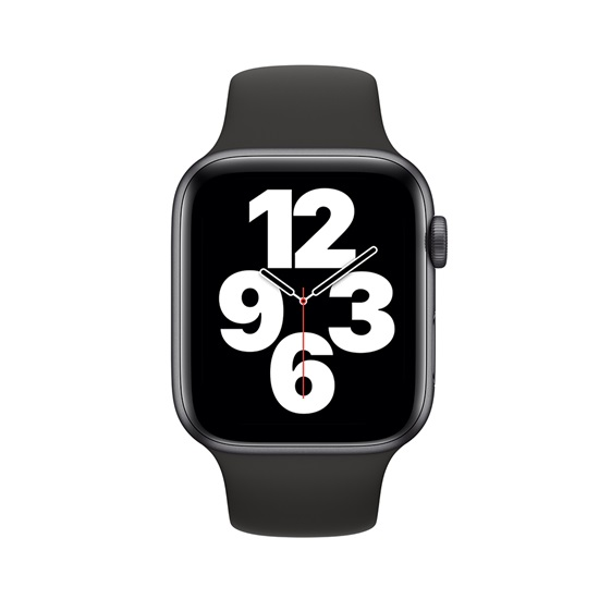 Watch Apple Series SE GPS 44mm Space Gray Aluminum Case with Black Sport Band (MYDT2NF/A)