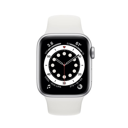 Watch Apple Series 6 GPS 40mm Silver Aluminum Case with White Sport Band (MG283TY/A)