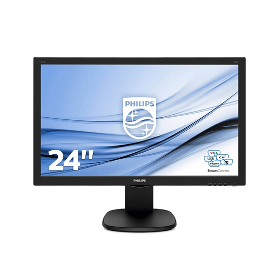 "PHILIPS 243S5LJMB Led FHD Ergonomic Monitor 24"" with speakers (243S5LJMB) (PHI243S5LJMB)"